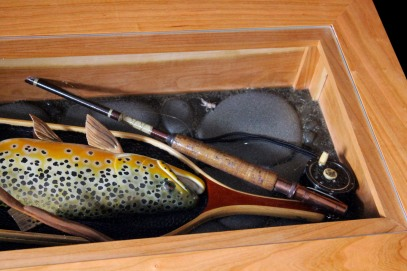 Coffee Table with German Brown Trout